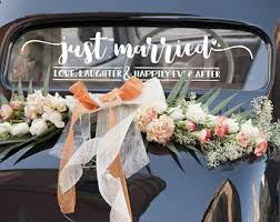 How To Decorate A Wedding Car With Flowers Wedding Car Etsy