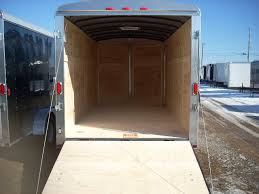 V Nose Enclosed Trailer Cabinets by Carry On 7 X 16 V Nose Enclosed Cargo Trailer Ramp Door