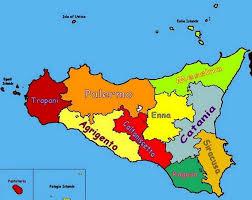 sicilia politica mappa cartes italie pinterest