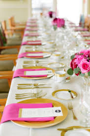 Pink And Gold Table Setting by The Resort At Portludlow Weddings Get Prices For Wedding Venues