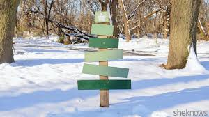 how to turn scrap wood into festive tree lawn decorations