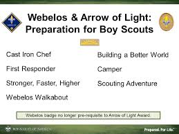 arrow of light scouting adventure cub scout program updates for boy scout leaders 2 change is coming