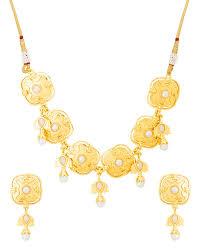 necklace set gold design images Buy designer necklace sets gold plated designer necklace set from jpg