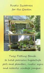 Free Wooden Potting Bench Plans by Best 25 Rustic Potting Benches Ideas On Pinterest Potting