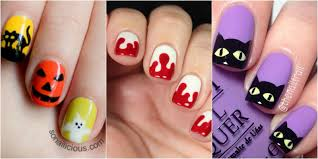 nail art halloween nail art ideas easy polish designs striking
