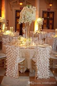 Wedding Chair Covers Cheap 2017 Classic Chiffon Floral Wedding Chair Sashes Cheap Beautiful