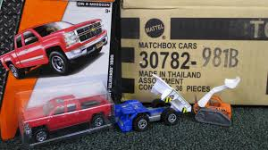 matchbox chevy silverado 2015 b matchbox factory sealed case unboxing by racegrooves youtube