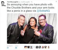 Black Dick Meme - the chuckle brothers cause hilarity with phallic optical illusion