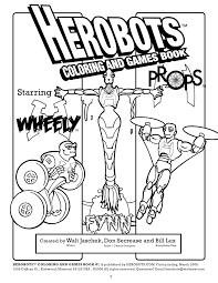 herobots preview children u0027s coloring book starring superher u2026
