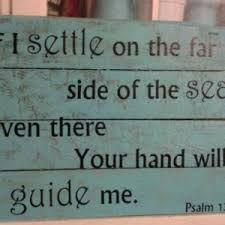 sign scripture psalm psalms 139 guide me religious ch