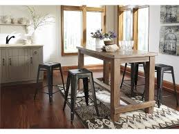 the counter height dining table in modern style dining room