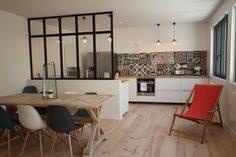verriere entre cuisine et salle à manger idée mur de séparation cuisine salle à manger idée déco cuisine