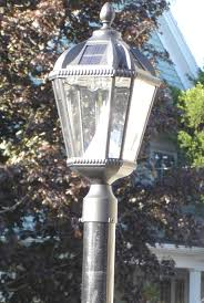 Outdoor Solar Lamp Post by Fence Post Solar Lighting X And X Fence Post Cap Solar Lights