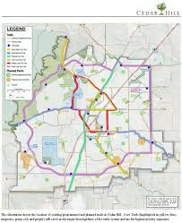 Oak Mountain State Park Trail Map by Trails U0026 Bikeways Cedar Hill Tx Official Website