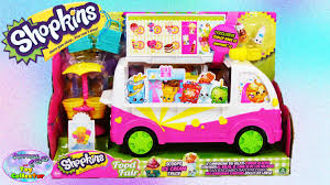 glitter truck shopkins scoops ice cream truck food fair play set exclusive