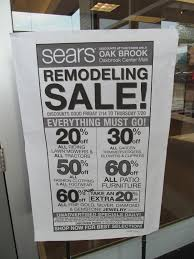 Oakbrook Mall Map Trip To The Mall Sears Downsizing Oakbrook Center Location With