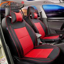 housse siege de voiture personnalisé autodecorun personnalisé housse de siège de voiture pu en cuir pour