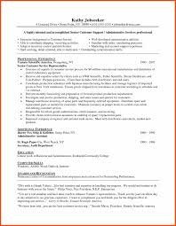 Resume Sample Of Customer Service Representative by Sample Resume For Customer Service Program Format
