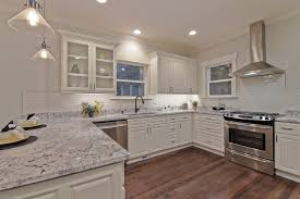 Light Kitchen Traditional Kitchen With Complex Granite Raised Panel In Seattle