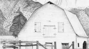 pencil drawings of barns sketch of an old barn stock images image