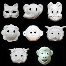 unpainted masks 2018 diy white paper unpainted party mask various fox monkey
