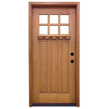 32 X 80 Exterior Door Steves Sons 32 In X 80 In Craftsman 6 Lite Stained Mahogany