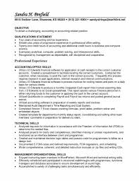 Entry Level Job Resume Qualifications Accounting Entry Level Accounting Resume Sample Resume Skills