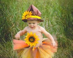 Sunflower Halloween Costume Scarecrow Tutu Dress Wizard Oz Scarecrow Tutu Dress