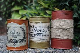 items similar to rustic decor tin can centerpieces fall colored