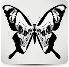 butterfly skull vector illustration stock vector colourbox
