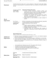 social worker resume exles clinical social work resume social worker resume mental