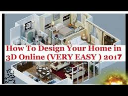 Design Your Home 3d Free How To Design Your Home In 3d Online 2017 Urdu Hindi Floor Plans