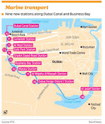 Dubai India Map by Rta To Open Nine Stations Along Dubai Water Canal Business Bay
