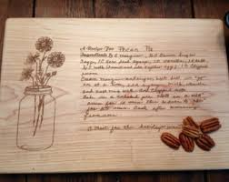 cutting board with recipe engraved personalized engraved cutting boards engraved by stwoodshop