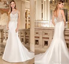 form fitting bridesmaid dresses demetrios classic satin mermaid wedding dresses strapless form