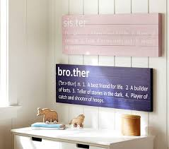 Pottery Barn Kits Sibling Plaques Pottery Barn Kids