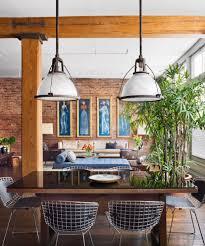 brick wall studio apartment inspiration