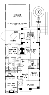 craftsman style house plan 2 beds 2 baths 1543 sq ft plan 929