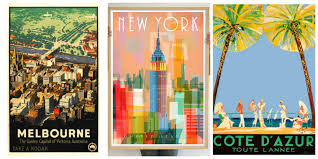 New York traveling the world images Put the world on your wall with a travel poster escape with kids jpg