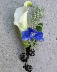 Blue Wedding Flowers Blue White And Black Wedding Flowers In Laguna Beach Floral