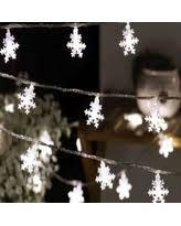 Snowflake Lights Outdoor String Lights Snowflake Christmas Lights Bhg Com Shop