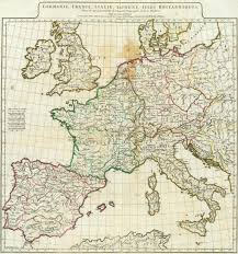 France Germany Map by Germany France Italy Spain British Isles By Anville 1776 Map
