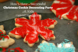 to have a successful christmas cookie decorating party with kids