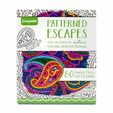 amazon com crayola patterned escapes coloring book toys u0026 games