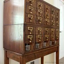 Library Catalog Cabinet I Have Always Wanted A Card Catalog In My House This Picture