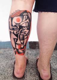 stunningly colorful cubist tattoos inspired by picasso