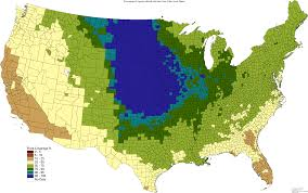 Great Plains Map State Flora Similarity