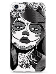 sugar skull pin up black and white inspiredcases