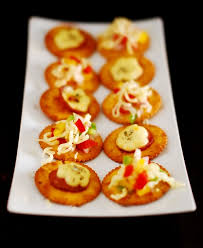 veg and non veg canapes easy appetiser recipe idea