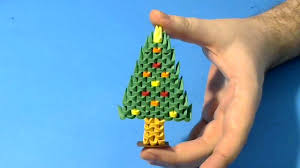 make 3d origami small christmas tree youtube